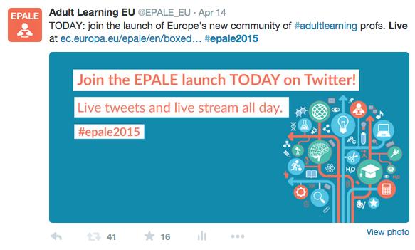 EPALE on Twitter
