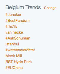 Belgium Trends on Twitter