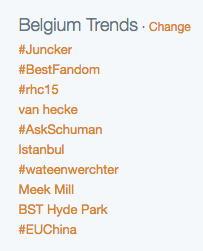 Belgium Trends on Twitter