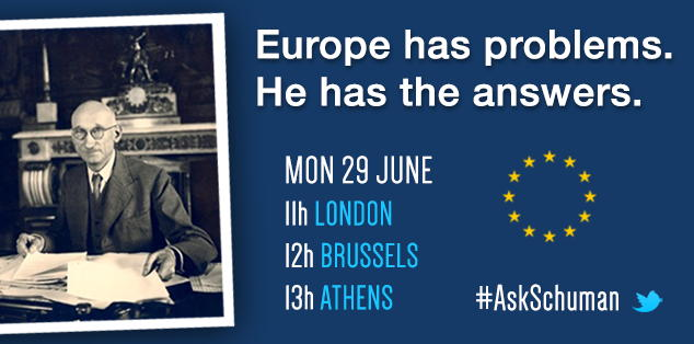Ask Schuman live chat announcement