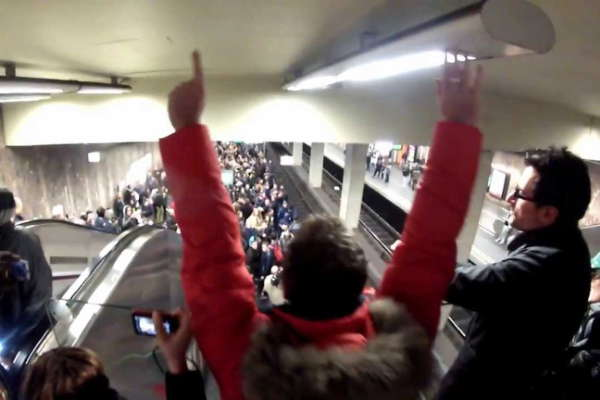 No Pants Subway Ride Brussels